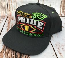Vtg ARCTIC CAT Snapback Hat Cat's Pride 1999 NOS Snowmobile ATV Black Baseball