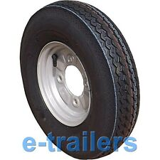 400x8 4ply Deli tyre on 115mm PCD Trailer Wheel - Erde Daxara type 265kg rated