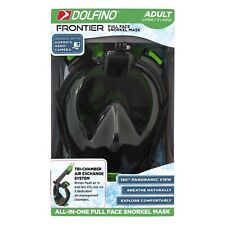 Dolfino Frontier All-in-one Full Face Snorkel Mask Adult(Large/X-Large) NEW