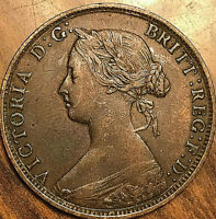 1864 NEW BRUNSWICK LARGE 1 CENT PENNY COIN - Tall 6 - Excellent example!
