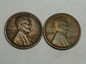 2 Better Date Lincoln Wheat Pennies Both Old Cleaning: 1923-s & 1926-s.  #8