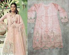 Maria B Replica Stitched Shalwar Kameez Trouser Suit Lawn Eid Tea Pink
