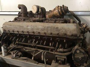 Rolls Royce Meteor V12 Rebuilt Engine Similar To Rolls Royce Merlin Engine