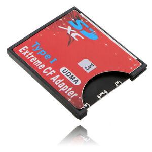 SD SDHC SDXC zu Compact Flash CF Speicherkarte Kartenleser Reader Adapter
