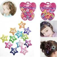 12PCS/Set Kids Barrettes Girls' BB Clip Candy Color Hair Clips Accessories