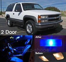 16Pcs Blue LED Lights Interior Package Kit For 1992-1999 2 Door Tahoe/Yukon