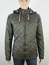 Crafted mens Size M dark green quilted hooded jacket