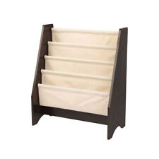 KidKraft Sling Canvas Kids Wooden Bookshelf, Espresso/Natural (Open Box)