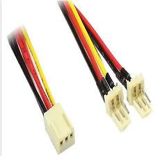 Delock 89343 22cm Lüfter Y-Kabel Verteiler Splitter Molex pin 3 pol Buchse 0,2 m