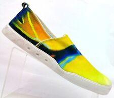 Blu Kicks Yellow Canvas Fish Soles Slip On Loafers Men's US 10.5 / EU 44