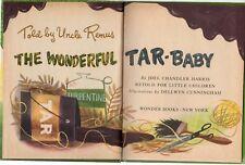 Vintage 1952 THE WONDERFUL TAR-BABY Told By Uncle Remus WONDER BOOKS NEW YORK
