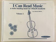 I Can Read Music, Vol 2: A note reading book for Violin students , Martin, Joann