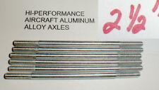 """(6) Hi-Per Aluminum Axles 5:40 thread Vintage 1960's Slot Car NOS  2 1/2"""" Long"""