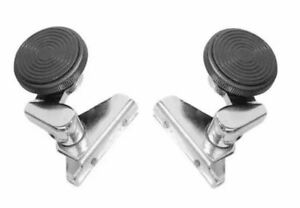 PAIR VW BUG BEETLE BUS T2 Left Right VENT WING WINDOW LATCH LOCK Round 1968-1977