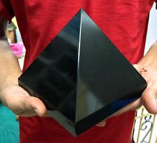 "New Giant 6"" Natural Black Tourmaline Crystal Healing Reiki Aura Stone Pyramid"