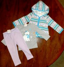 Pant Outfit 3pc Lilac Gray Gymboree Hoodie Toddler Girl size 18-24 month New