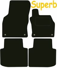 Tailored Deluxe Quality Car Mats Skoda Superb 2015-2017 ** Black **