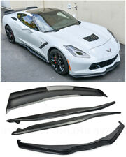 For 14-19 Corvette C7 Z06 Style Wickerbill Spoiler W/ Side Skirts W/ Front Lip
