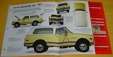 70 71 1969 Chevrolet Blazer K5 350 ci 4x4 All Wheel Drive Info/Specs/photo 15x9