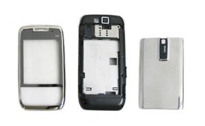 Façade / Coque / Cover (Noir et Chrome) ~ Nokia E66