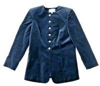 Valerie Stevens Gorgeous Navy Blue Velvet Blazer Jacket Formal Evening Size 6