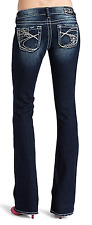SILVER Jeans Sale Dark Low Rise Embellished Tuesday Bootcut Stretch Jean 29 X 33
