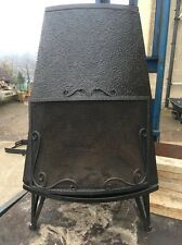 Trolla Free standing Wood buring Norwegian Cast Iron Stove Black Rear Flue Exit