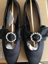 Zara Satin ballet Flats With Crystal Brooch Size 41 - 41 Sold Out Everywhere