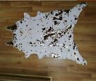 Faux Cow Print Skin Animal Area Rug Gold Foil Stamping Carpet Kid Mat Home Decor