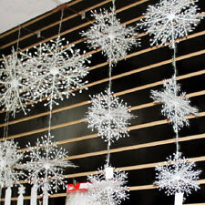 30pcs Snowflakes Hanging Ornaments Window Decorations Festival Party Home Decor