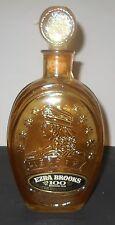 "Decanter,,Ezra Brooks 1970 Amber ""Miss Liberty"" W/Original Box.Historic! Rare!"