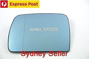 LEFT PASSENGER SIDE BMW X5 E53 2000 - 2006 BLUE MIRROR GLASS WITH HEATER