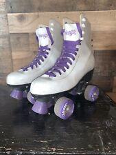 Chicago Roller Skates Women's Size 8White Purple Indoor Rink Outdoor Skating