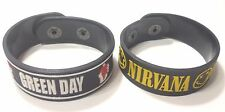 2xNEW GREEN DAY NIRVANA RUBBER BRACELET WRISTBAND MAN WOMAN SOUVENIRS DAY RS35