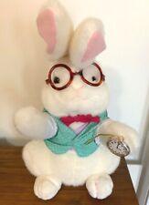 Alice in Wonderland White Rabbit Easter Bunny Plush Rabbit Animal Vintage 1991