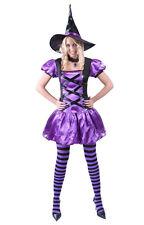 Disfraz bruja morada lila halloween mujer barato