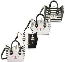 Luv Betsey Johnson Katt Cat Small Crossbody Messenger Shoulder Bag Satchel Purse