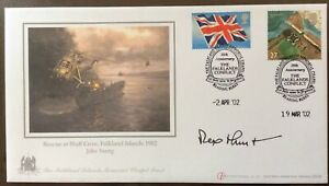 Sir REX HUNT, Governor Signed 20th Anniversary Falkland Islands War 2002 FDC