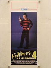 NIGHTMARE 4 IL NON RISVEGLIO horror regia Renny Harlin locandina orig. 1989