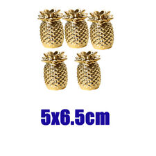 5x Pineapple Trinket Collectible Figurines Ornaments Ceramic Fruit Model _S