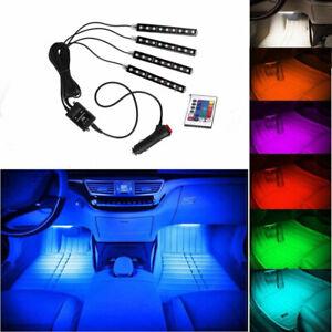 4*9 LED RGB Car Interior Atmosphere Seat Glow Strip Light Decor Lamp Full Color