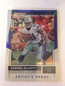 2017 Panini Score Artist's Proof #291 Ezekiel Elliott Dallas Cowboys SSP #32/35!