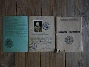 Stolk Schleswig Fahrenstedt 1935 mit Foto !  Freiwillige Feuerwehr Mitgliedsbuch