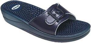 Scholl New Massage Sandals - Navy Blue