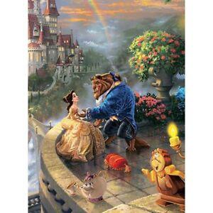 Disney Full spuare&Round 5D beauty and the Beast diamond painting DIY diamond