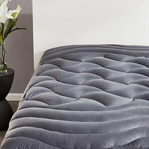 King Size Mattress Pad Cover Memory Foam Pillow Top Cooling Overfilled Topper