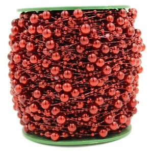5m Fishing Line Pearls Chain Pearl Beads Chain Garland Wedding Xmas Decoration