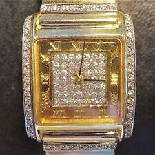 hochwertige DAMEN - ARMBANDUHR, massiv Gold 585 und zahlreiche Diamanten