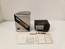 Konica X-24 Auto Electronic Flash 705-318 Shoe Mount With Box Tested Working #2