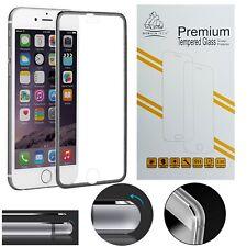 9H Silver Metal Edge iPhone 7 Screen Protector Tempered Glass Gorilla Tech Brand